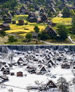 Historická vesnice Shirakawa